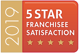 5 Star Franchisee Satisfaction Badge for 2019